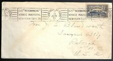 1935 Inaugural Voyage of SS Normandie Cover with Stamp FDC France