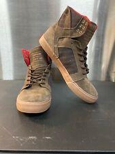 Supra Skytop Shoe, brown-red-gum mens Size 10 Regular US Muska 001