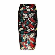Marks and Spencer Straight, Pencil Floral Skirts for Women