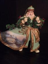 THOMAS KINKADE OLD WORLD SANTA Bringing Home the Tree  Santa Christmas