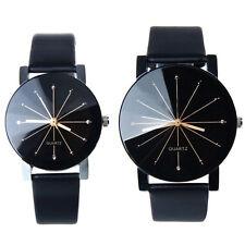 Fashion Stainless Steel Leather Sports Watch Quartz Analog Wrist Watch Gift