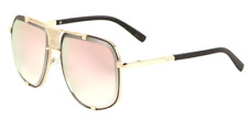 Wholesale 12 Pair Trendy Aviators w/ Rose Gold Pink Color Mirror Lens Sunglasses