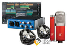 PreSonus AudioBox USB 96 Recording Studio Bundle w/ Studio One & MXL Studio Mics