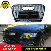 Full Black A5 Grille Front Mesh Grill for Audi A5 Sline & S5 12-15 RS5 Qua Style