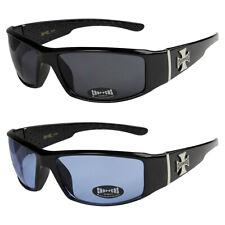 2er Pack Choppers 6608 Locs Sonnenbrille Brille blau getönt Gläser Männer Frauen