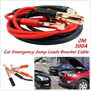 2M 500amp Car Truck SUV Emergency Jump Leads Booster Cable Battery Start Jumper