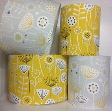 Fryetts Bergen Ochre Mustard & Grey Dandelion Clocks Fabric Light or Lamp Shade