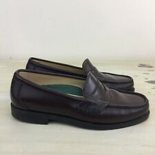 DEXTER COMFORT - Brown Hand Sewn Leather Penny Loafer Shoes, 8.5 - MUST SEE!