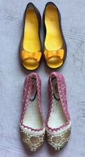 Papa Yellow Clear Shoes Bow On Toe, MSD Jelly Shoes, Pink, Both Size 36