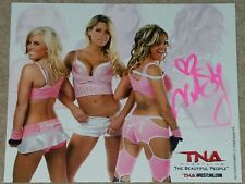 TNA SIGNED PHOTO VELVET SKY THE BEAUTIFUL PEOPLE P65 PROMO MADISON RAYNE LACEY