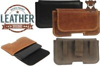 RICARDSSON BELT CLIP HOLSTER MADE OF GENUINE LEATHER POUCH CASE COVER FOR PHONES