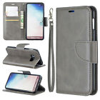 Gray Premium Leather case cover strap for Samsung iphone LG Sony MOTO Huawei