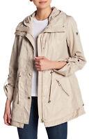 Guess Hooded Anorak Rain Coat Khaki XL