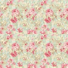 MODA 3 Sisters favourites Pink Aqua Blue Floral 3768-14 100% Cotton Fabric FQ