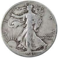 1941 S Liberty Walking Half Dollar VG Very Good 90% Silver 50c US Coin