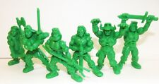 Plastic toy soldiers. Tehnolog. Ancient Slavs. Green color. 1/35 or 1/32