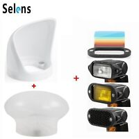 Selens Magnetic Flash Modifier, Diffuser Sphere, Magnet Honeycomb Filter, Bounce