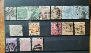 "16 UK STAMPS ""VICTORIA""  USED"
