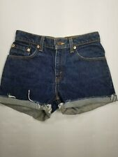 Levis 555 Guy's Fit Cutoff Shorts Sz 5 XL High Waist DIY Juniors Dark Wash