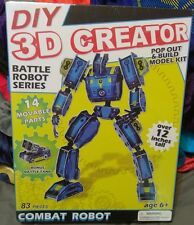 DIY 3D Creator Battle Robot Series Model - 83 Pieces - 12 Inches Tall - Combat