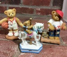 Enesco Cherished Teddies Lot 3pcs. Retired Larry Woody and April 1997 1999