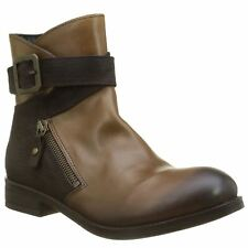 Fly London Afar 021 Camel Chocolate Womens Leather Ankle Boots