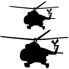 2 Wandaufkleber Wandtattoo Wandsticker Hubschrauber Helikopter Militär Armee