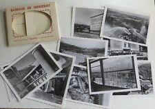 Le barrage de Génissiat ( Ain ) en pochette de 10 mini photos –
