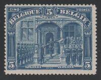 """BELGIUM YVERT 147  """" ALBERT 1er IN FURNES 5FRANKEN BLUE 1915 """" MNH VF C887"""