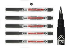 Uni Super Ink Marker Black Permanent Cd Dvd Fabric Laundry Marker Pen Pack 1amp2amp3