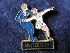 """RARE PINS PIN'S ZAMAC """" SWITZERLAND """" PATINAGE ARTISTIQUE """" MARTINEAU """""""