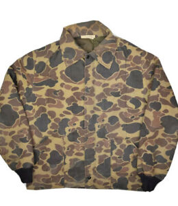 Vintage Insulated Duck Camouflage Hunting Jacket Mens M Made in USA 80s