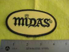 Midas Mufflers And Brakes Service Uniform  Oval Patch