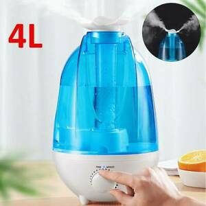 4L Ultrasonic Humidifier Aroma Diffuser LED Light Mist Maker Air Purifier Rooms