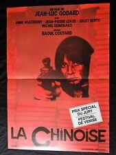 jean-luc godard LA CHINOISE  affiche cinema ressortie