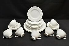 Susie Cooper Pirouette Dinner Salad Bread Plates Cups Saucers - Lot of 31 Pieces
