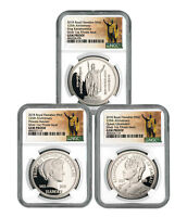 Royal Hawaiian Mint King Kalakaua I 3coin 1 oz Silver Medal NGC Gem PF SKU56506