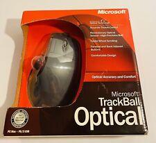New listing Microsoft Trackball Optical 1.0 Ps2/Usb Wired MouseX08-70346 Original Box