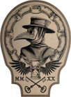 Vintage Plague Doctor Sticker Decal (Select your Size)