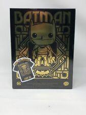 Funko Pop ! Gold Chrome Batman With Pop Tee Target Exclusive XL Tee