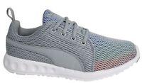 Puma Carson Prism Lace Up Womens Grey Textile Trainers 189023 02 D32