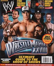 WWE Magazine April 2012  The undertaker John Cena w/Poster EX 121015DBE