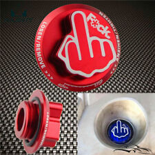 Red Fuel Filler Tank Engine Oil Cap JDM Shocker Emblem For Lexus/Toyota/Scion