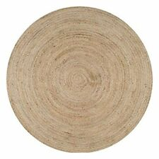 Indian Handmde Jute Round Floor Rug Yoga Mat Carpet Decor