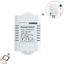 30amps Smart Pump Switch, Water Heater Timer,Wi-Fi+Remote Control w/ Transmitter