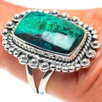 Chrysocolla 925 Sterling Silver Ring Size 6.5 Ana Co Jewelry R58893F