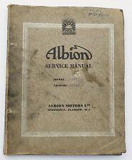 Original Albion FT. 25 & FT. 27 Service / Workshop Manual
