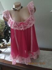 Victoria's Secret Very sexy pink babydoll nightgown gown dress lingerie Large 46