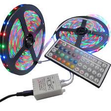 2x 5M 3528 SMD RGB 600 LED Strip light string tape + 44 Key IR remote control US
