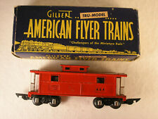 AMERICAN FLYER 'O' 484, AMERICAN FLYER LINES CABOOSE, WHITE HAND RAILINGS, OB